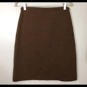 Banana Republic Brown Knit Merino Wool Skirt S